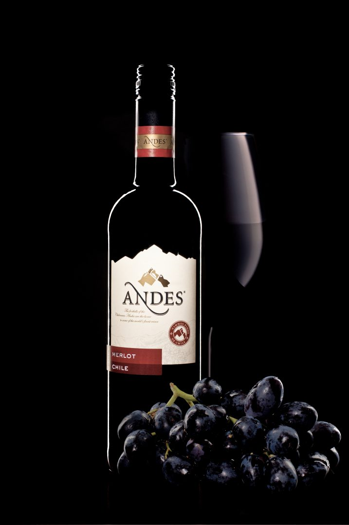 Composition – Bottle of red Wine