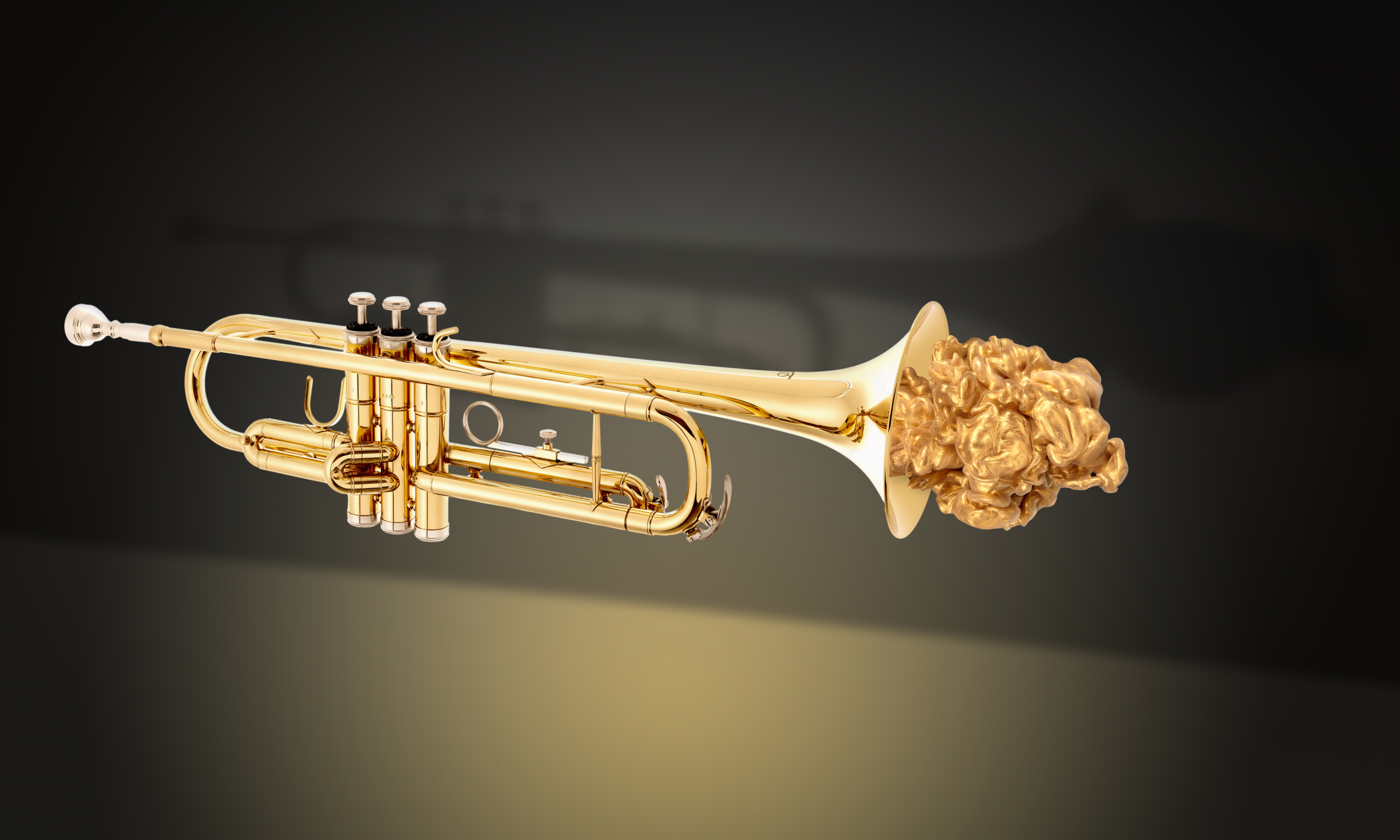 Trumpet with Gold Cloud